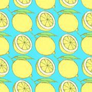 Sketch juicy lemon in vintage style Stock Illustration