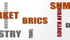 Brics union members tags cloud Stock Footage