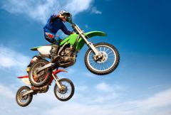Men on motorcycle Stock Photos