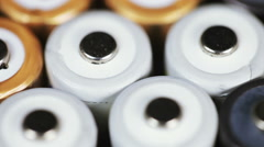 Multicolored batteries Stock Footage