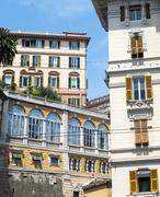 Genoa (italy), historic buildings - stock photo