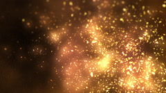 Smoke and Fire Embers Looping Background Stock Footage