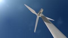 Wind Mill Turbine Behind Loop - stock footage