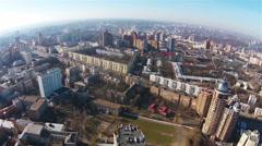 Aerial view of Pechersk district, Kiev, Ukraine Stock Footage