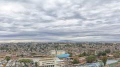 Aerial view of the city of Addis Ababa Kuvituskuvat