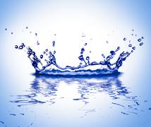 Water corona Stock Photos