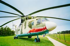 Russian Soviet multi-purpose transport helicopter Mi-26 - stock photo