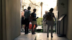 Tourists sightseeing Alcazar in Seville, SpainHD Stock Footage
