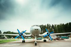 Short-haul passenger aircraft IL-14P Stock Photos