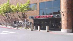 Emergency Health Center Exterior Stock Footage