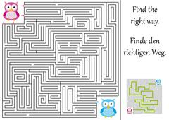 Find the right way through the maze Stock Illustration