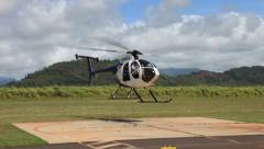 Helicopter in Hawaii lift off Stock Footage