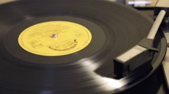Old vinyl on record player Stock Footage