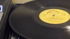 Record player with vinyl disc Stock Footage