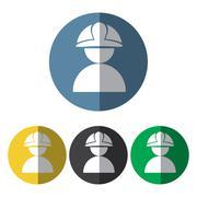 Builder man icon Stock Illustration