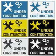 Under construction sign Stock Illustration