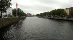 River Liffey, day, stable - Dublin Stock Footage