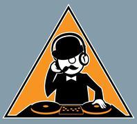 Hipster DJ Stock Illustration