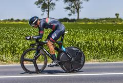 The Cyclist Kanstantsin Siutsou - stock photo