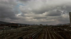 Train Station Timelapse Stock Footage