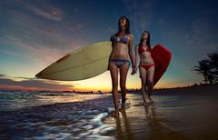 Surfers Stock Photos