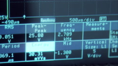 Digital oscilloscope analyzing signal 2/2 Stock Footage