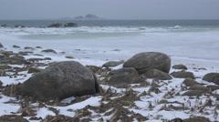 Alaska Winter Scenic Pyramid Island Chilkat Estuary 4K Stock Footage