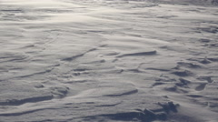 Blowing Spindrift in High Wind Sunny Winter Crusty Snowfield 4K Stock Footage