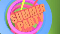 Summer party animation intro Stock Footage