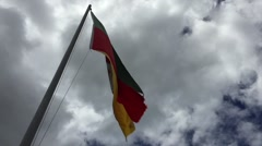 Flag of the State of Rio Grande do Sul, Brazil - stock footage