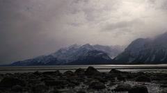 Chilkat River Alaska Scenic and Colorful Low Tide TL Stock Footage