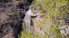Distant Waterfall in Rock Canyon - stock footage