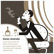 Vector gentleman club - stock illustration