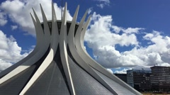 Cathedral of Brasilia, Brazil Stock Footage