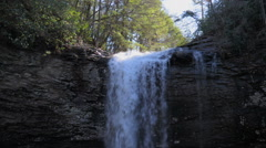 Waterfall in Rock Canyon - stock footage