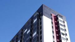 High-rise building tilt Stock Footage