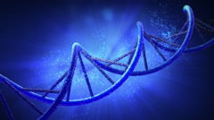 DNA Double Helix Rotating in Loop with Alpha Channel - stock footage