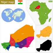 Niger map - stock illustration