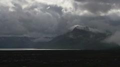Dark Tundra Onerous Clouds Kelsall Lake BC Timelapse Stock Footage