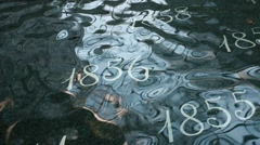 numbers underwater movement - stock footage