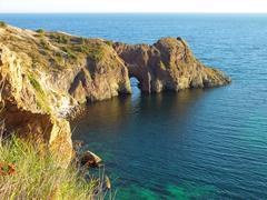 Diana grotto in the Black sea, Ukraine Stock Photos