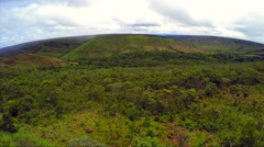 Aerial View from Chapada dos Viadeiros in Goias, Brazil Stock Footage