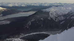 Flying over Chilkat Mountains Haines Alaska in Distance HD Stock Footage