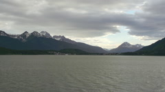 Haines Alaska from Ferry Cloudy Summer Day Stock Footage