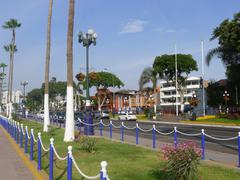 Chorrillos view of an avenue at coastline - stock photo