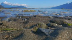 Incoming Tide Ripples in Sand Chilkat - stock footage