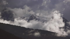 Intense Towering Clouds over Alaskan Chilkat Mountains Glaciers 4K Stock Footage