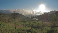 Panoramic view of mountains of Oaxaca Stock Footage