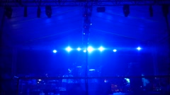 Stage lights in live concert Arkistovideo