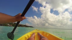 Kayaking on a lagoon. Stock Footage